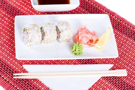 Image of Sushi rolls setup  Imagens