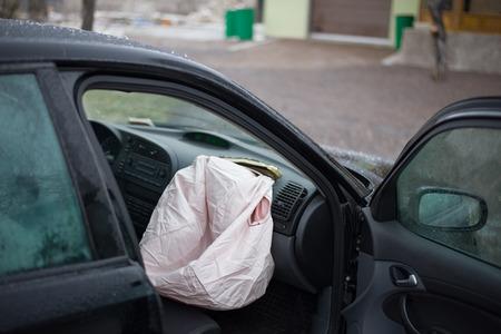 deployed: Image of deployed airbag