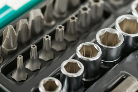 Image of Toolbox, tools kit detail close up