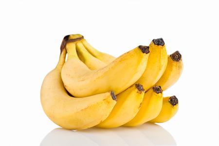 image of tasty bananas isolated on the white background. Imagens