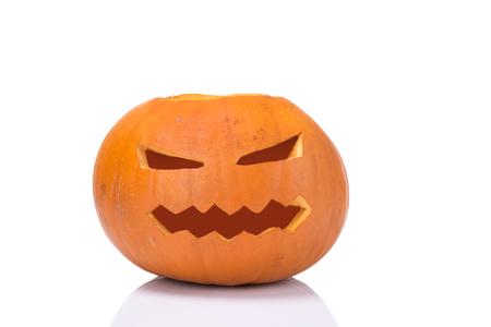 helloween: image of helloween pumpkin over white background