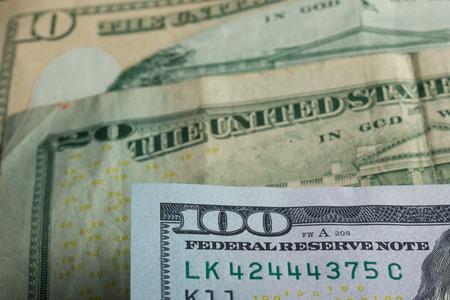 hundred dollar bill: Money background - American dollars. Portrait of president Stock Photo