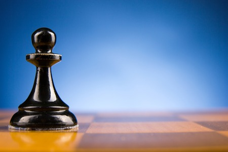 chess move: Chess. First step. Copy space for text