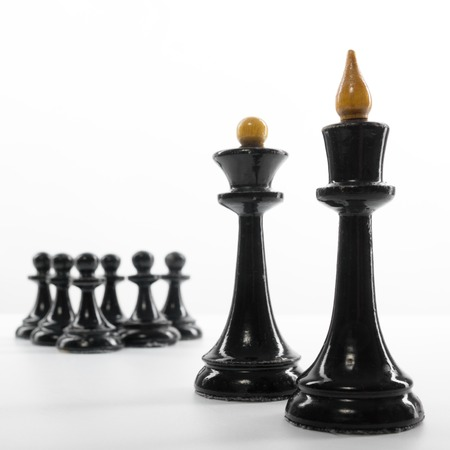first move: Business concept strategy, leadership, team and success. Businessman playing chess game selective focus. Makes first move