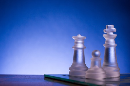 debate win: Chess. First step. Copy space for text
