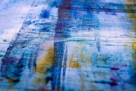 painted background: Abstract painted canvas. Oil paints on a palette. Colorful background.