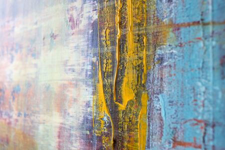 Painting Artistic bright color oil painting texture abstract artwork. Modern futuristic pattern for grunge wallpaper, interior, album, flyer cover, poster, booklet background. Creative graphic design 写真素材