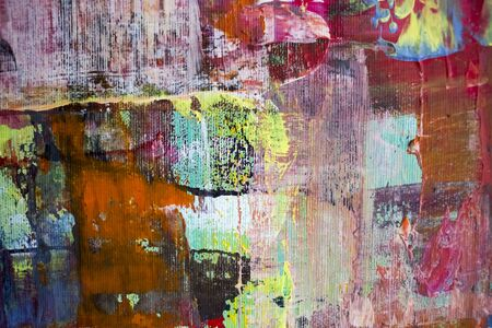 Painting Artistic bright color oil paints texture abstract artwork. Modern futuristic pattern for grunge wallpaper, interior, album, flyer cover, poster, booklet background. Creative graphic design 写真素材