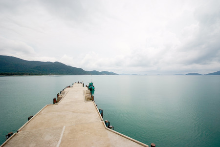 Koh Chang island habor view with cloudy sky, Trat province, Thailand