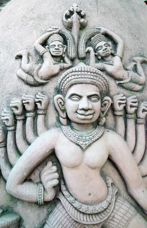 bayon: Bayon statue on a stone