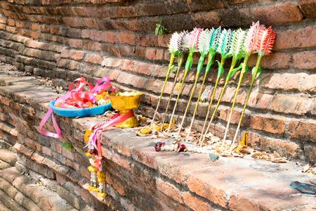 doctrine: Buddha offerings Stock Photo