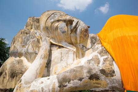reclining: Reclining Buddha at Wat Lokayasutharam