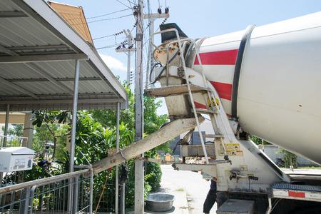 coagulate: a part of Thai cement truck