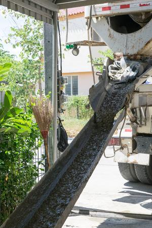 coagulate: concrete trough from Thai concrete truck