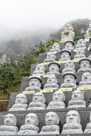 stow: Korea stone monk statue