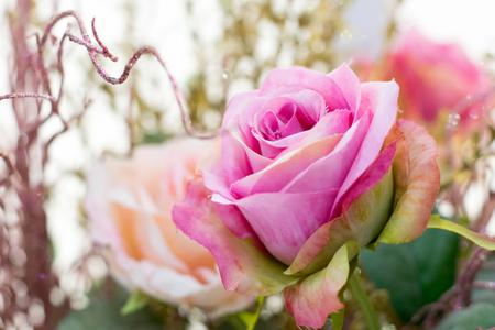 spurious: close up rose artificial flower Stock Photo