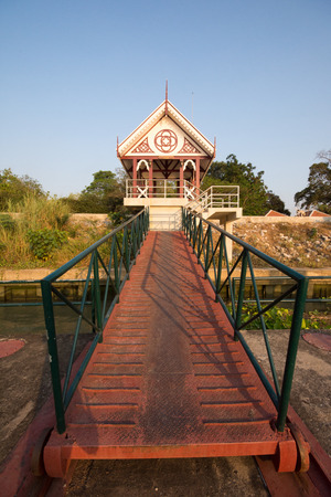 old Thai waterfront pavilion