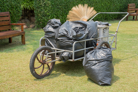 wastrel: waste cart with garbage