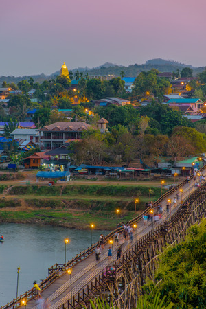 relent: The Mon bridge is Thailand�s longest wooden bridge and the second longest in the world measuring over 400 meters long.