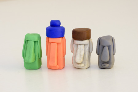 avocation: Moai dolls made of polymer clay.