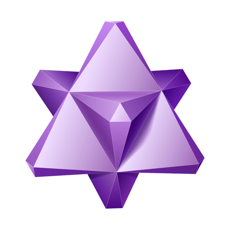 tetrahedron: Vector complex geometric shape