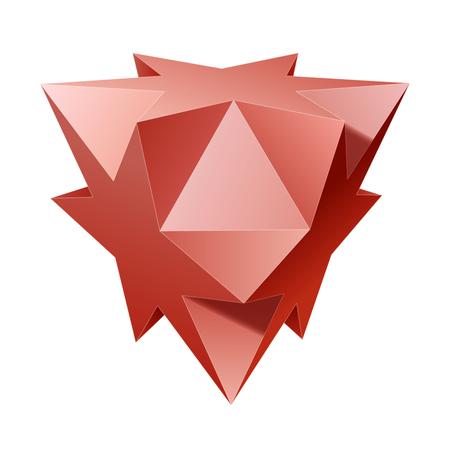 complex geometric shape based on tetrahedron Illustration