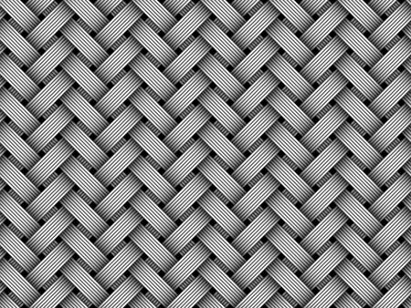 Woven fiber seamless pattern. Vector Illustration  イラスト・ベクター素材