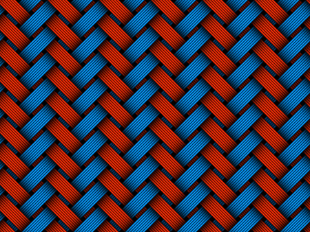 Vector seamless pattern of colored woven fiber