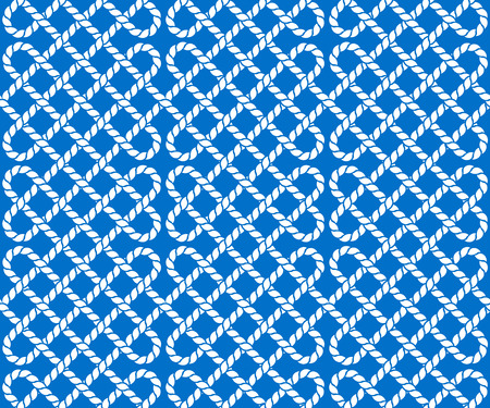knotted rope: Vector seamless pattern of ropes