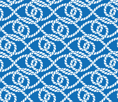 Vector seamless pattern of ropes