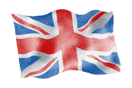 Flag of the UK - Vector stippled illustration Illustration