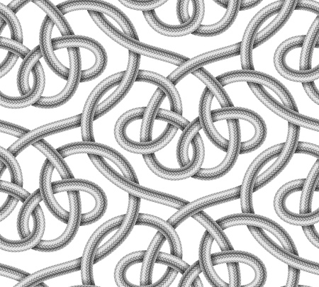 knotted rope: Braided cable vector seamless pattern Illustration
