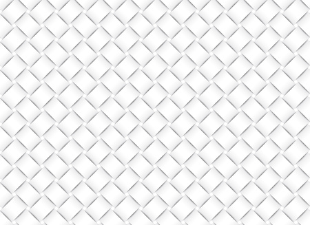 Vector seamless decorative pattern of white wicker paper strips. Illustration