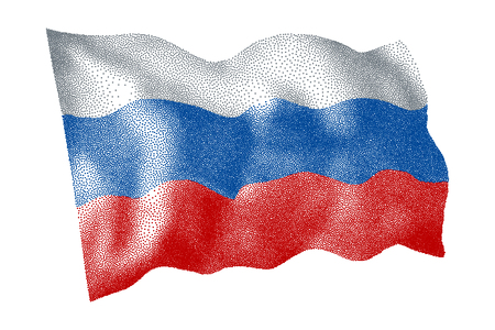 Flag of Russia - Vector stippled illustration