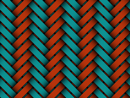 matting: Vector seamless pattern of colored braided fiber