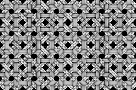 matting: Matting fiber seamless pattern. Vector Illustration Illustration