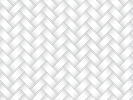 Vector seamless decorative pattern of interweaving bands. White texture.