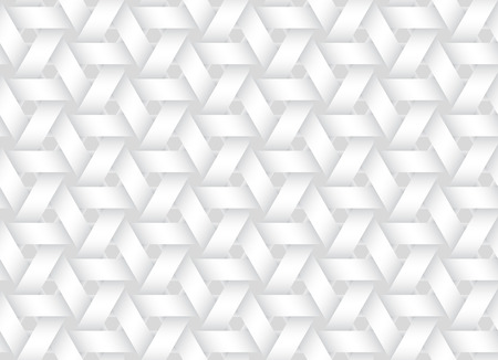 Vector seamless decorative pattern of weaved bands. White texture. Illustration