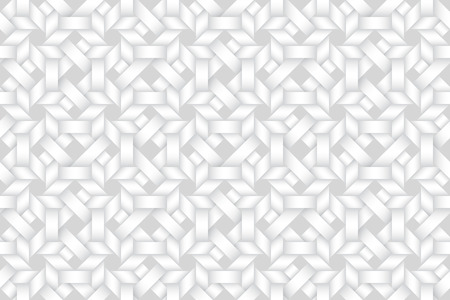 Vector seamless decorative pattern of matting bands