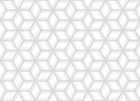 Vector seamless decorative pattern of interlaced bands. White texture.