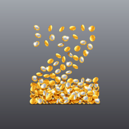 Vector letter Z made of coins filling character. Easy to edit