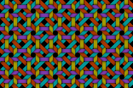 Vector seamless pattern of colored matting fiber
