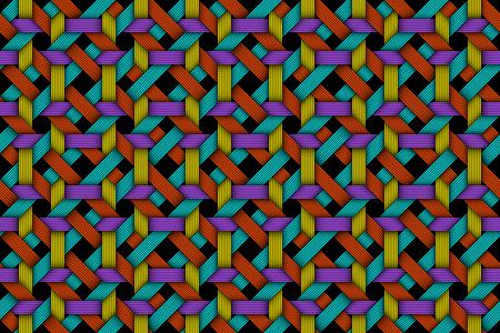 Vector seamless pattern of colored matting fiber