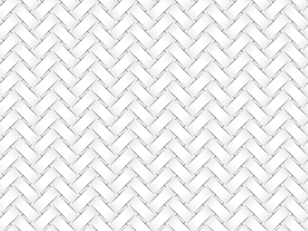 Vector seamless decorative pattern of white braided paper strips.