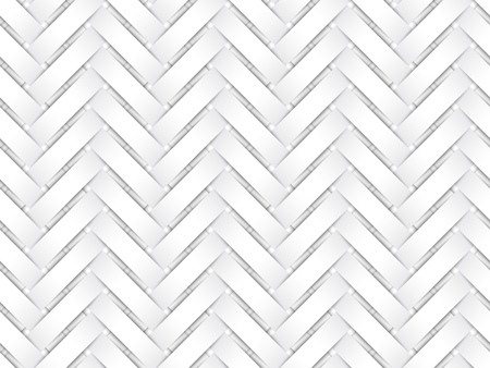 Vector seamless decorative pattern of white interweaving paper strips.