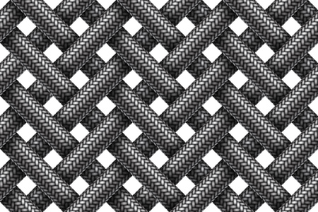 Vector seamless decorative pattern of intersecting fabric braided cords. Illustration