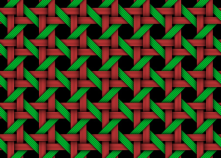Woven colored decorative seamless pattern. Vector Illustration