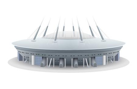 Saint Petersburg Football Stadium. Vector illustration.