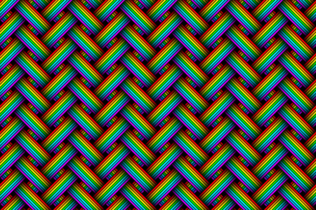 Vector seamless pattern of varicoloured woven fiber