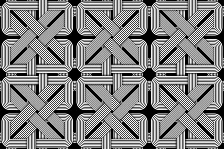Seamless pattern of wicker square shaped wires. Vector repeating geometric background.